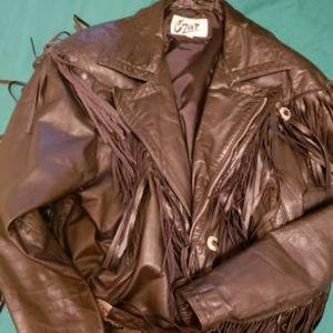 Vintage Genuine leather fringe cowboy/ motorcycle